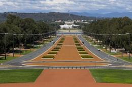 Australia Parliament Building from the Australian War Memorial