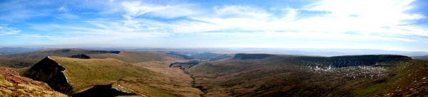 View from Pen y Fan by RickNash