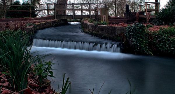 Mottisfont Waterfall 3 by RickNash