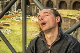 Asleep in Rome