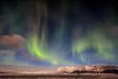 Jokulsarlon Glacial Lagoon and the Northern Lights