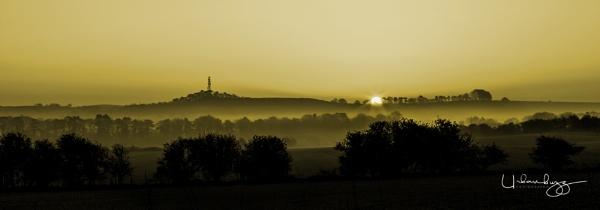 Misty Morning at sunrise by urbanbuzz