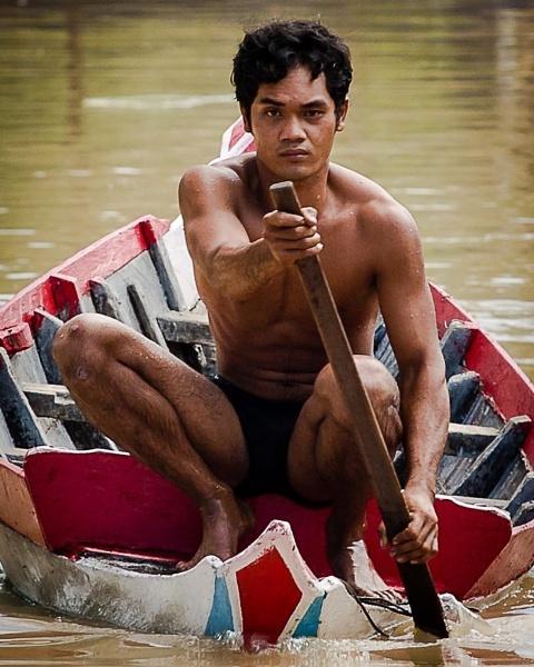 Cambodia Canoe by dvdrew