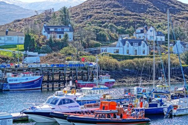 Kyleakin harbour. by macprints
