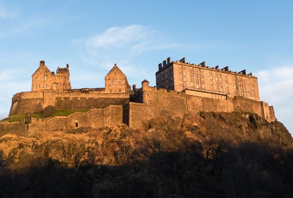 Edinburgh Castle at Sunset by NevJB