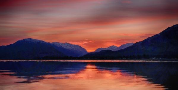 Loch Linnhe Sunset by Backabit