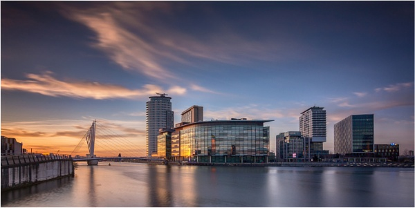 Sunset on Media City by Somerled7
