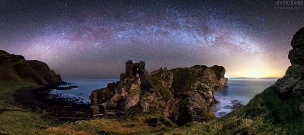 The Night Sky at Kinbane Castle by Johnnybairdphotography