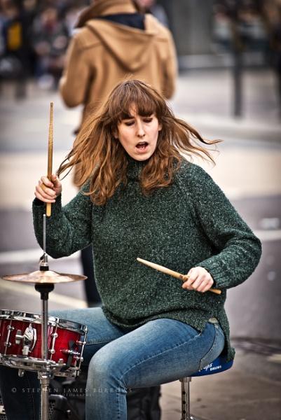 Drummer girl by Stephen_B