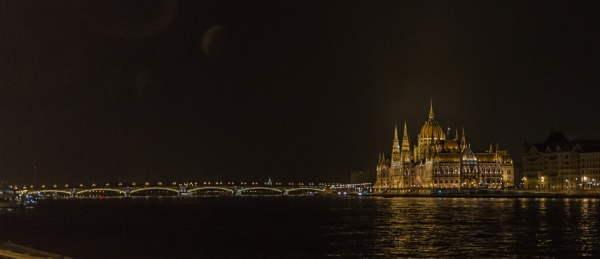 The Hungarian Parliament at night by RobertTurley