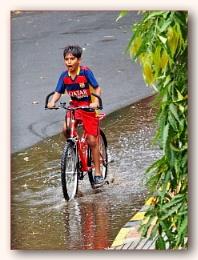 *** Enjoying a ride in the Rain ****