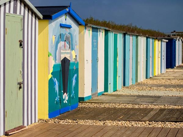 Bognor Beach Huts by CrustyPics