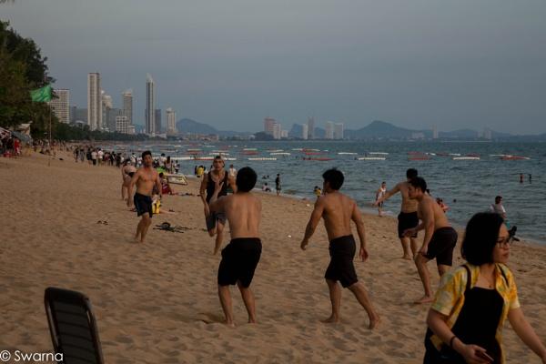 Beach Volleyball - Jomtiem Beach, Pattaya by Swarnadip