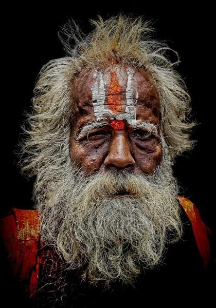 wandering sadhu in Trichy by sawsengee