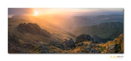 Sunrise from Cadair Irdris, Snowdonia