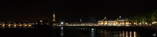 Bordeaux, les quais et le pont de pierre by chataignier