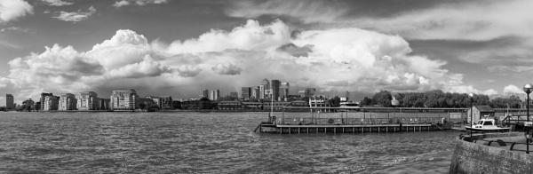 Grennwich Pier & Canary Wharf Beyond by NevJB