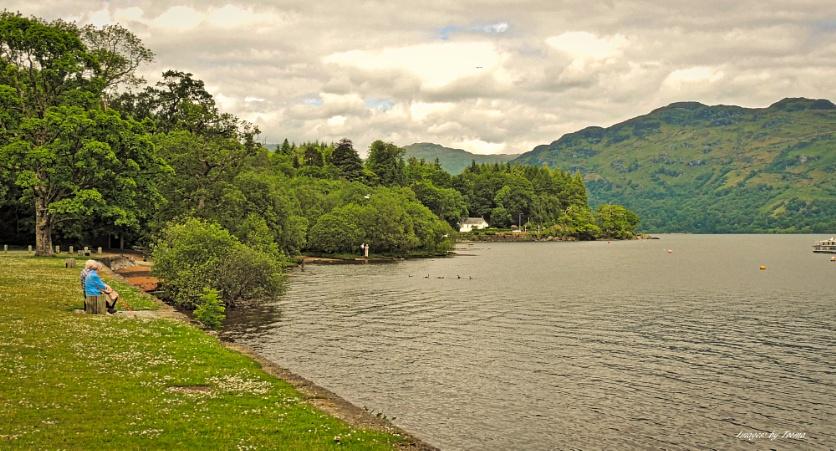 Enjoying Loch Lomond.
