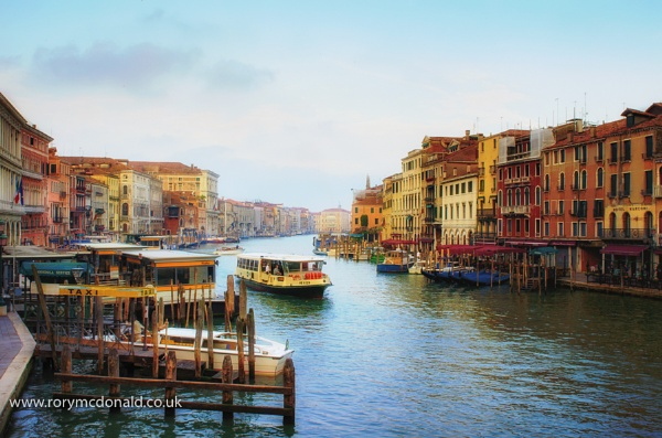 Grand Canal From Ralto Bridge by Rorymac