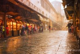 Raining On The Ponte Vechhio