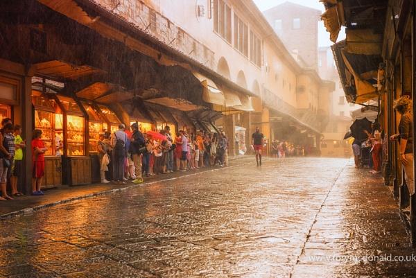 Raining On The Ponte Vechhio by Rorymac