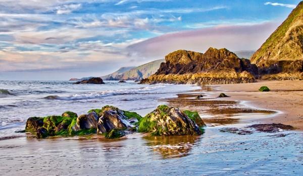 Tresyth Beach:Cardigan by altosaxman