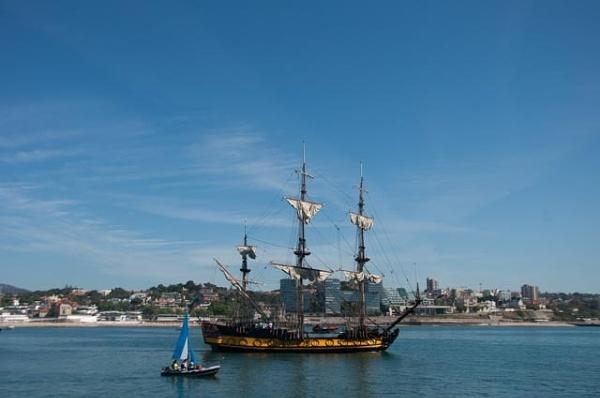 Shtandart setting sail by HarrietH