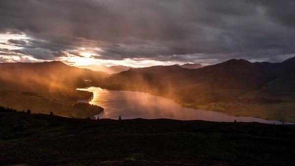 Passing shower on Loch Venachar, by AndyB1976