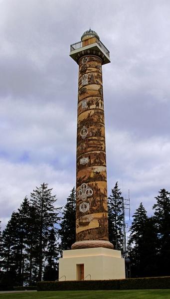 Astoria Column, Oregon USA by Janetdinah