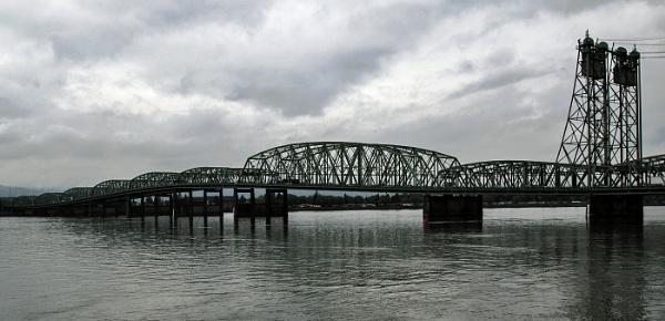 Portland Bridge over the Columbia River Washington State by Janetdinah
