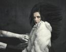 woman in plastic rabbit fur by weron