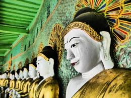 Buddhas .. Sagaing Hill, Myanmar