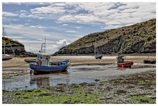 Waiting for the tide in a cove near St Davids in Wales by PhilT2