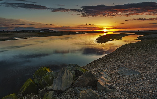 Spey sunset by Dallachy