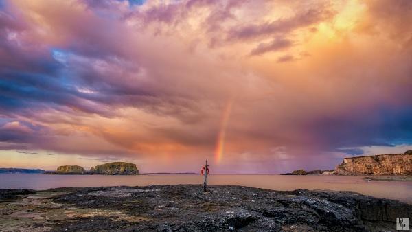 "\""Rainbow and Rain Clouds\"" by DavidLaverty"