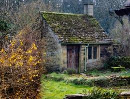 A garden shed in Bibury,Glos.