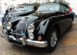 Vintage Jaguar Coupes.