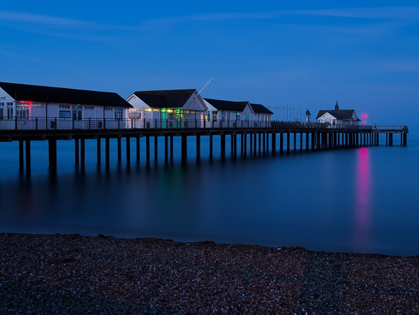 Nighttime at Southwold Pier by Phil_Bird