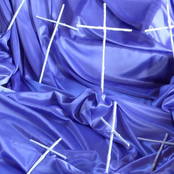 White crosses on purple drape by Philip_H