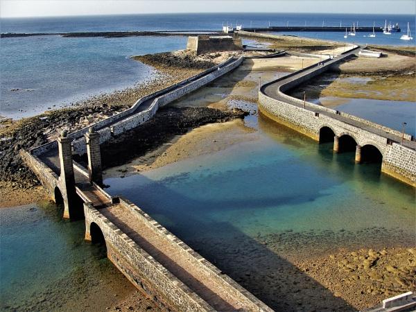Zig Zag Stone Pier Aerial by PentaxBro