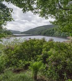 Ladybower reservoir Derbyshire from near the visiter centre.