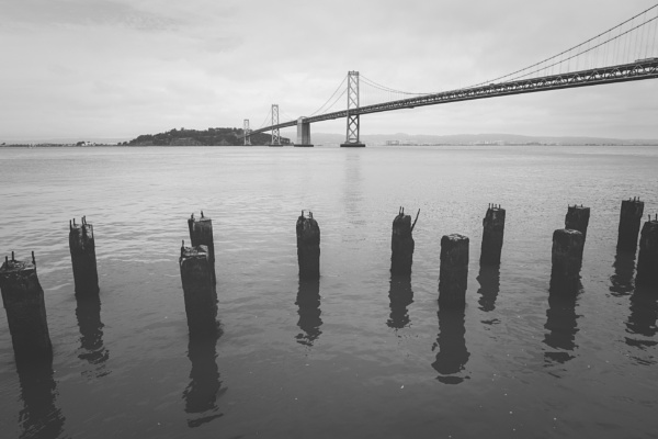 Bay Bridge and Old Pier supports by JohnnyG
