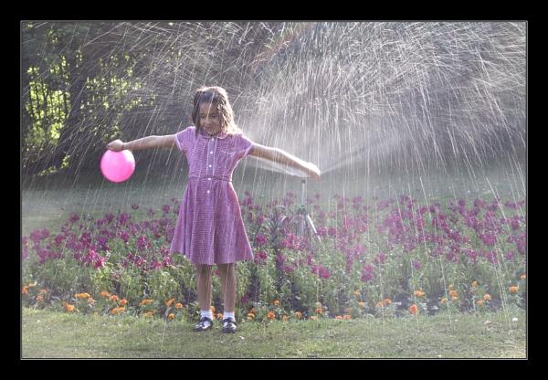 Fun in the Sprinkler by BobDraper