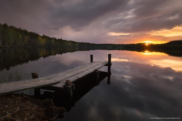 Lake in Joensuu by Saturnbeats