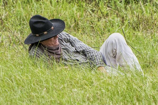 Resting Cowboy by jbsaladino