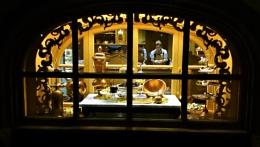 Chocolate shop window Disney Florida