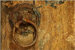 Ancient Handle on Ancient Door