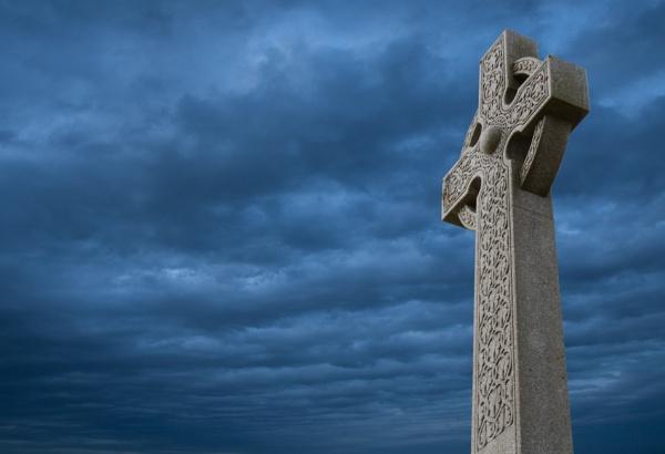 Celtic Blue Cross by MadVillPics