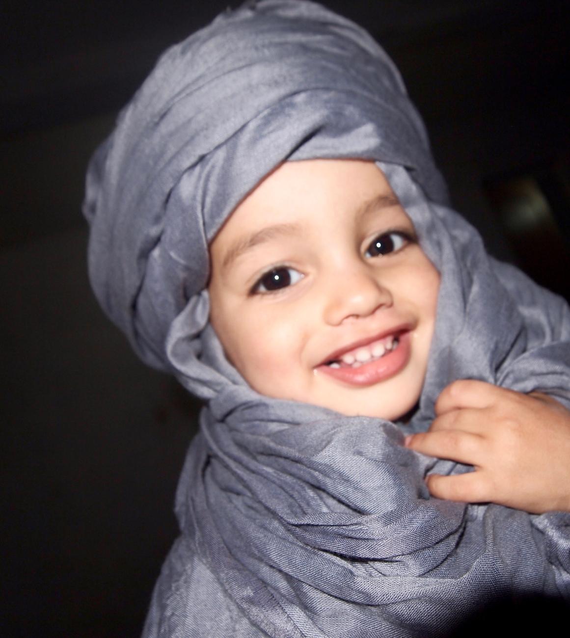 Cute little Sahara boy