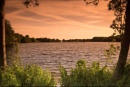 Sunset on the lake by Squirrel